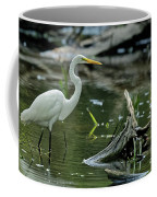Egret In The Swamp Coffee Mug
