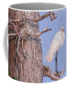 Egret In Tree Coffee Mug