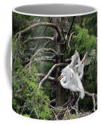 Egret Morning Coffee Mug