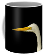 Egret On Black Coffee Mug