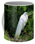 Egret On Guard Coffee Mug