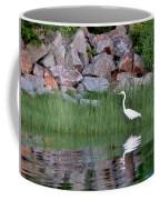 Egret On The Danvers River Coffee Mug
