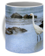 Egret Patrolling Coffee Mug