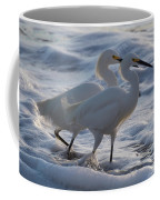 Egrets In The Shallows Coffee Mug