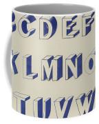 Egyptian For Carving Vintage Blue Font Design Coffee Mug