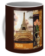 Eiffel Tower And Roses Coffee Mug