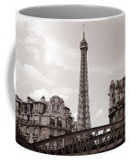Eiffel Tower Black And White 3 Coffee Mug