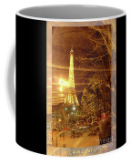 Eiffel Tower By Bus Tour Greeting Card Poster Coffee Mug
