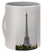 Eiffel Tower Over Trees And Statues Coffee Mug