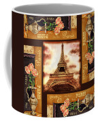 Eiffel Tower Roses Dance Coffee Mug