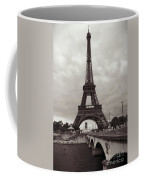Eiffel Tower With Bridge In Sepia Coffee Mug