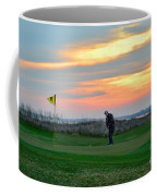Eighteenth Green At Sunset Coffee Mug
