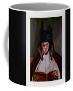 Elderly Lady Reading A Book Coffee Mug