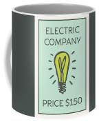 Electric Company Vintage Monopoly Board Game Theme Card Coffee Mug