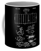 Electric Football Patent 1955 Black Coffee Mug