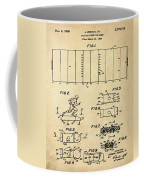 Electric Football Patent 1955 Sepia Coffee Mug