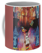 Electric Forest-people Building Houses In The Trees Coffee Mug