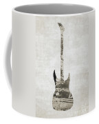 Electric Guitar Sepia Coffee Mug