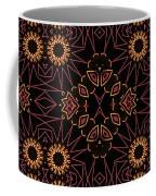 Electric Pink Folk Fresco Coffee Mug