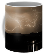Electric Sepia Skies  Coffee Mug