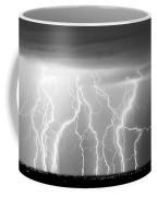 Electric Skies In Black And White Coffee Mug