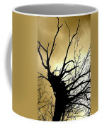 Electric Tree Black And Gold Coffee Mug