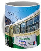 Electric Trolley Took Us To The Port In Valparaiso-chile  Coffee Mug