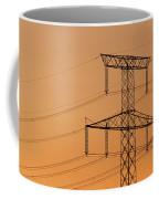 Electricity Pylon At Sunset  Coffee Mug