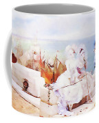 Elegant Figures Watching The Regatta Coffee Mug
