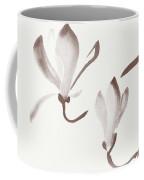 Elegant Magnolia Branch With Two Flowers Sumi Zen Style Illustra Coffee Mug