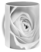 Elegant Rose Rendered In Black And White Square Coffee Mug