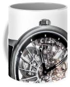 Elegant Watch With Visible Mechanism, Clockwork Close-up. Coffee Mug
