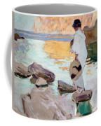Elena At Cala De San Vicente Coffee Mug