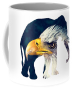 Elephant And Eagle Coffee Mug