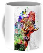 Elephant Colored Grunge Coffee Mug