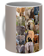 Elephant Faces Coffee Mug