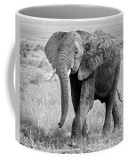 Elephant Happy And Free In Black And White Coffee Mug