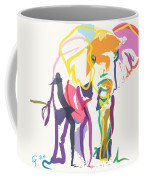 Elephant In Color Ecru Coffee Mug