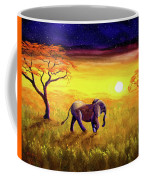 Elephant In Purple Twilight Coffee Mug