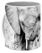 Elephant Portrait In Black And White Coffee Mug