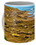 Elephant Seals Near Cambria  Coffee Mug