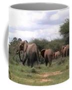 Elephant Walk Tsavo National Park Kenya Coffee Mug