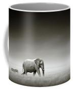 Elephant With Zebra Coffee Mug