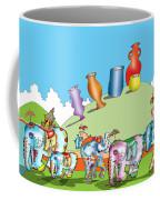 Elephants And Urns On A Hill Coffee Mug