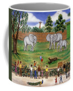 Elephants At The Zoo Coffee Mug