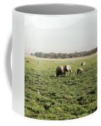 Elephants Grazing Coffee Mug