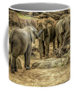 Elephants Social Coffee Mug