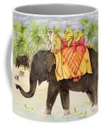 Elephants With Bananas Coffee Mug