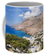 Elevated View Of The Hora Sfakion Coffee Mug