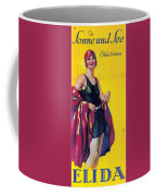Elida Cremes In Sonne Und See - Woman In Swimsuit - Vintage Advertising Poster Coffee Mug